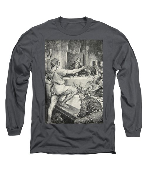 Beowulf Replies Haughtily To Hunferth Long Sleeve T-Shirt