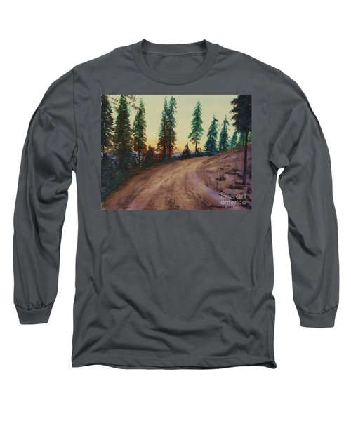 Long Sleeve T-Shirt featuring the painting Bergebo Forest by Martin Howard