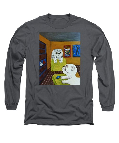 Bffs Long Sleeve T-Shirt by Victoria Lakes