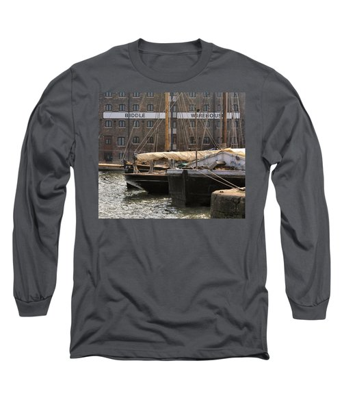 Long Sleeve T-Shirt featuring the digital art Biddle Warehouse by Ron Harpham