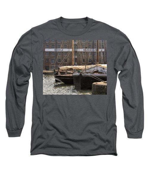Biddle Warehouse Long Sleeve T-Shirt by Ron Harpham