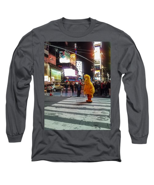 Big Bird On Times Square Long Sleeve T-Shirt