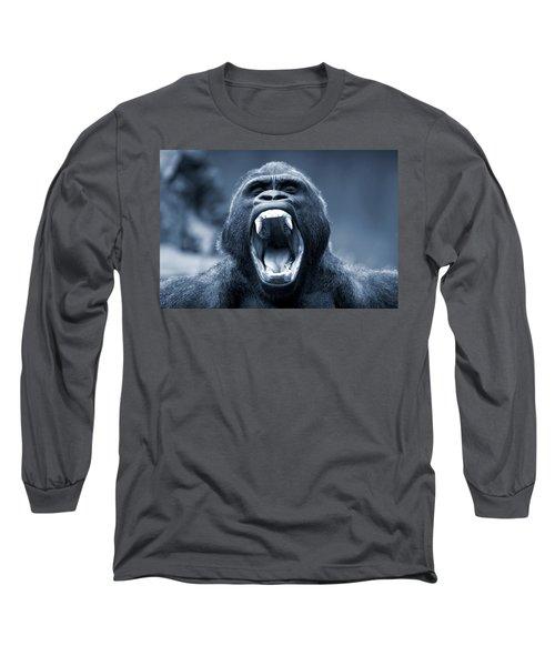 Big Gorilla Yawn Long Sleeve T-Shirt