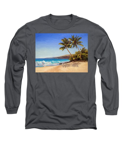 Hawaiian Beach Seascape - Big Island Getaway  Long Sleeve T-Shirt