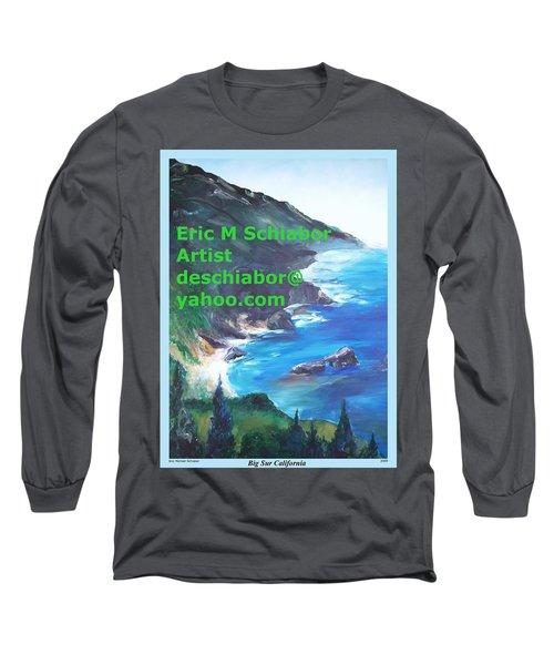 Big Sur Califorina Long Sleeve T-Shirt