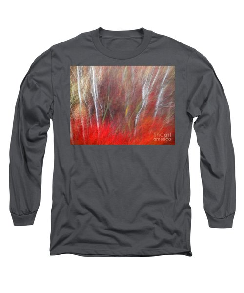 Birch Trees Abstract Long Sleeve T-Shirt