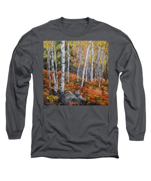 Birch Trees Long Sleeve T-Shirt