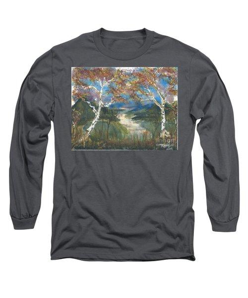 Birch Trees On The Ridge  Long Sleeve T-Shirt