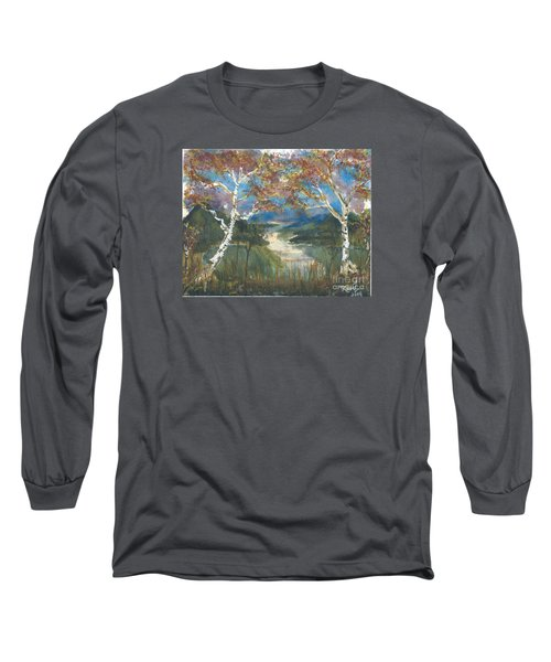 Birch Trees On The Ridge  Long Sleeve T-Shirt