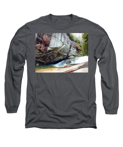 Birdrock Waterfall In Spring Long Sleeve T-Shirt