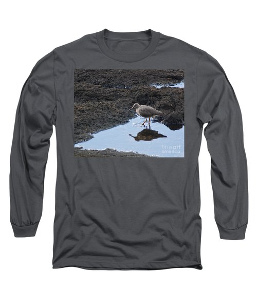 Long Sleeve T-Shirt featuring the photograph Bird's Reflection by Belinda Greb