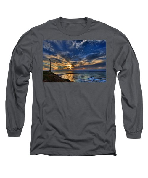 Long Sleeve T-Shirt featuring the photograph Birdy Bird At Hilton Beach by Ron Shoshani