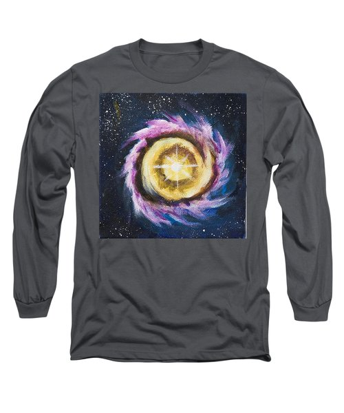 Long Sleeve T-Shirt featuring the painting Birth Of A Star by Yulia Kazansky