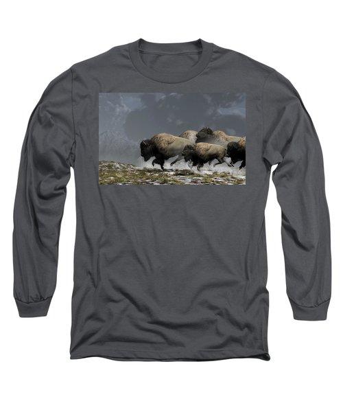 Bison Stampede Long Sleeve T-Shirt