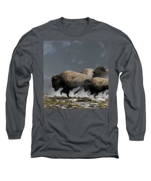 Bison Stampede Long Sleeve T-Shirt