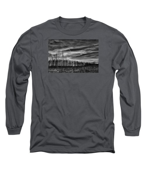 Long Sleeve T-Shirt featuring the photograph Black And White Grongarn Sky December 16 2014 Colouring The Clouds  by Leif Sohlman