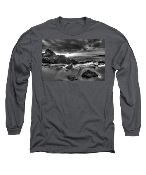 Black And White Laguna Beach Long Sleeve T-Shirt