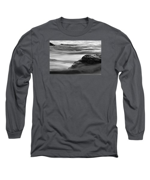 Black And White Seascape Long Sleeve T-Shirt