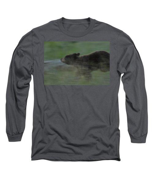 Black Bear Cub Long Sleeve T-Shirt