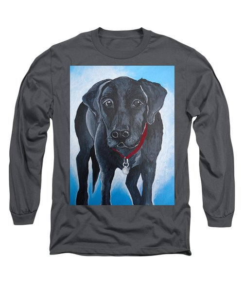 Black Lab Long Sleeve T-Shirt by Leslie Manley