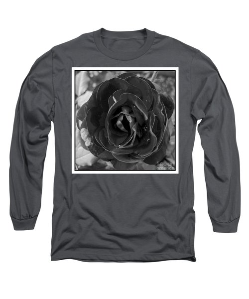 Long Sleeve T-Shirt featuring the photograph Black Rose by Nina Ficur Feenan