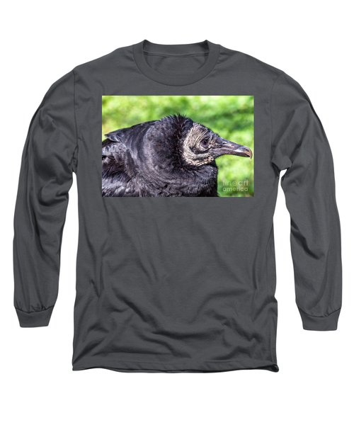 Black Vulture Waiting For Prey Long Sleeve T-Shirt