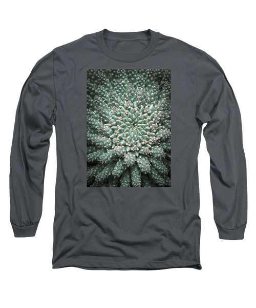 Blooming Geometry Long Sleeve T-Shirt by Caitlyn  Grasso