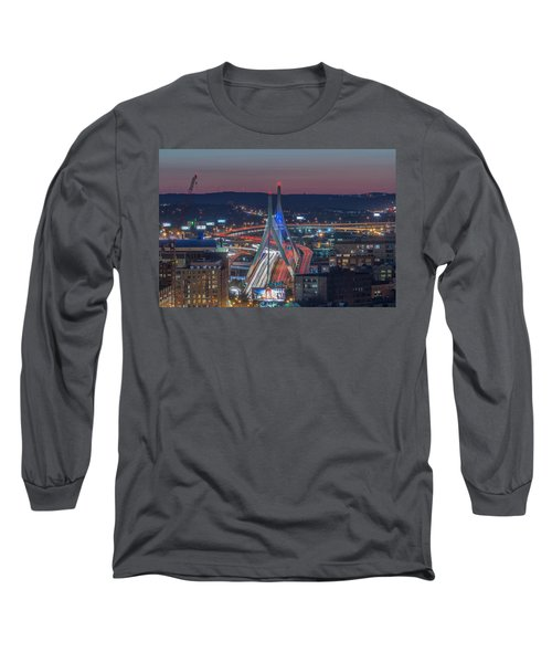 Blue And Red Zakim Long Sleeve T-Shirt
