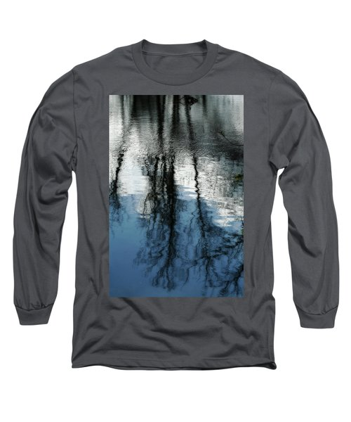 Blue And White Reflections Long Sleeve T-Shirt