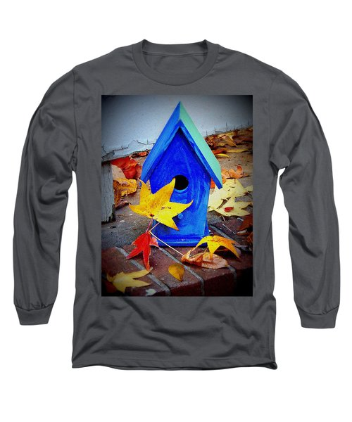 Long Sleeve T-Shirt featuring the photograph Blue Bird House by Rodney Lee Williams