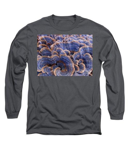 Blue Bracket Macro Long Sleeve T-Shirt