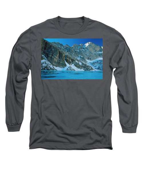 Blue Chasm Long Sleeve T-Shirt by Eric Glaser