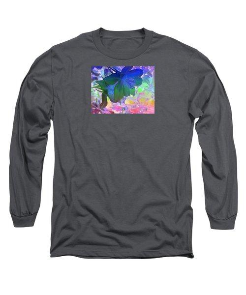 Blue Columbine Long Sleeve T-Shirt