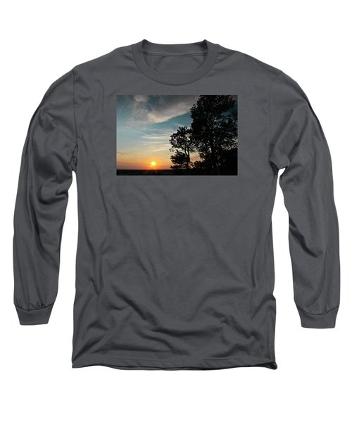 Long Sleeve T-Shirt featuring the photograph Blue Heaven Sunset by Julie Andel
