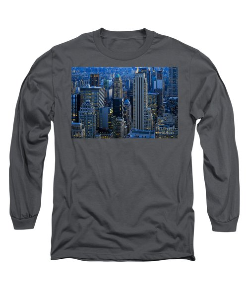 Blue Hour In New York City Usa Long Sleeve T-Shirt