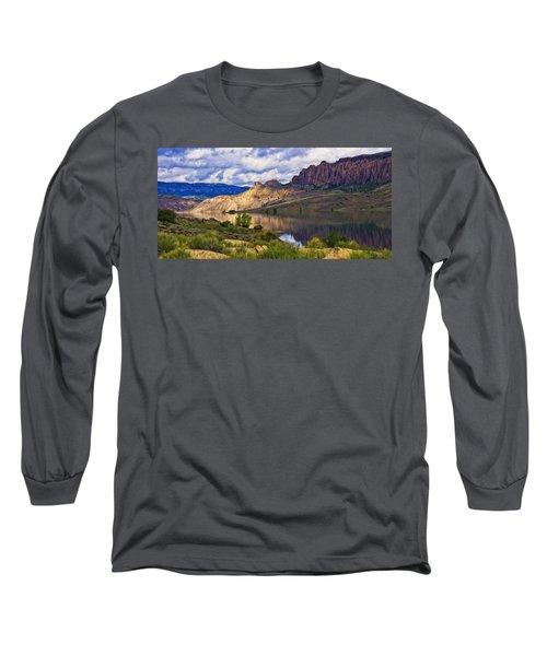 Blue Mesa Reservoir Digital Painting Long Sleeve T-Shirt