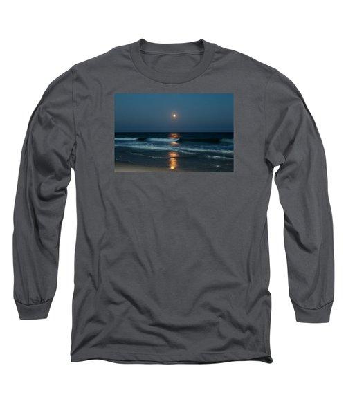 Long Sleeve T-Shirt featuring the photograph Blue Moon by Cynthia Guinn