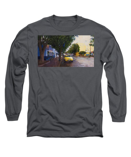 Blue Moon On A Rainy Day Long Sleeve T-Shirt