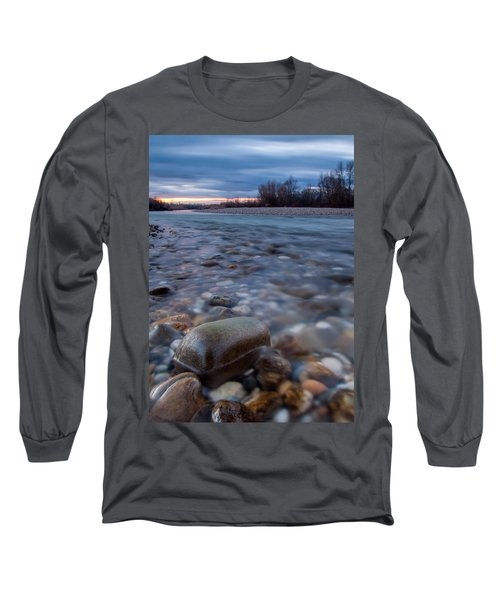 Long Sleeve T-Shirt featuring the photograph Blue Morning by Davorin Mance