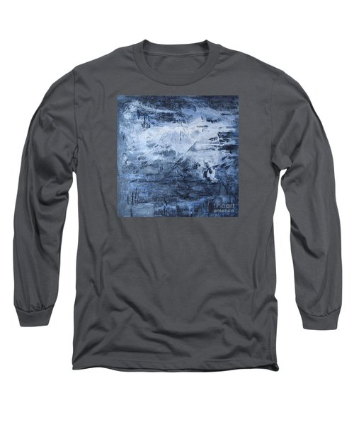 Blue Mountain Long Sleeve T-Shirt by Susan  Dimitrakopoulos