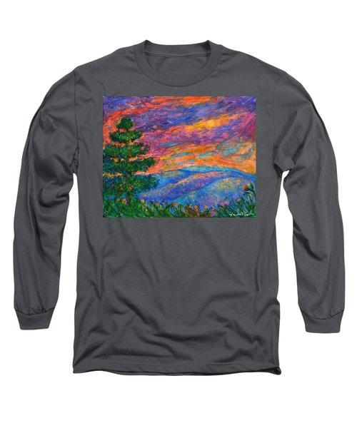 Blue Ridge Jewels Long Sleeve T-Shirt by Kendall Kessler