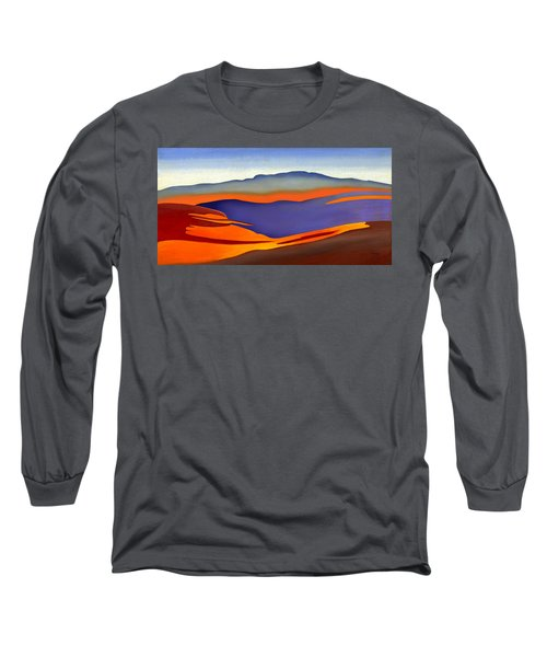 Blue Ridge Mountains East Fall Art Abstract Long Sleeve T-Shirt by Catherine Twomey