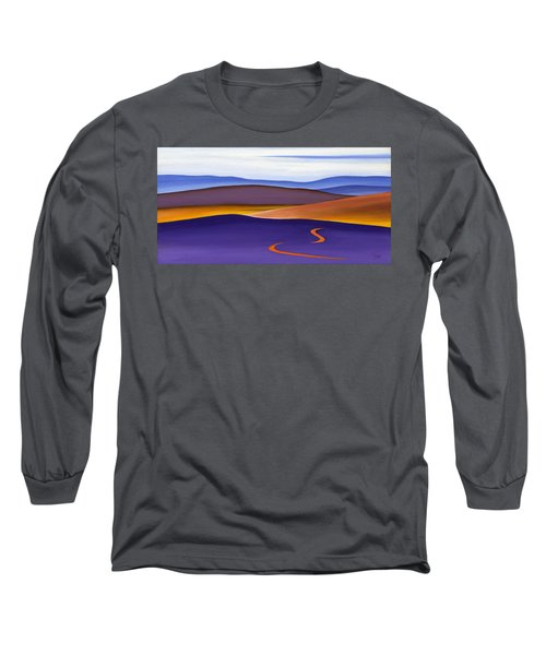 Blue Ridge Orange Mountains Sky And Road In Fall Long Sleeve T-Shirt by Catherine Twomey