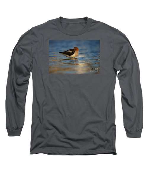 Blue Solitude Long Sleeve T-Shirt
