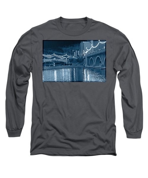 Blue Tempe Evening Long Sleeve T-Shirt