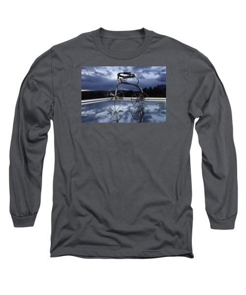 Blue Visions 5 Long Sleeve T-Shirt by Teo SITCHET-KANDA