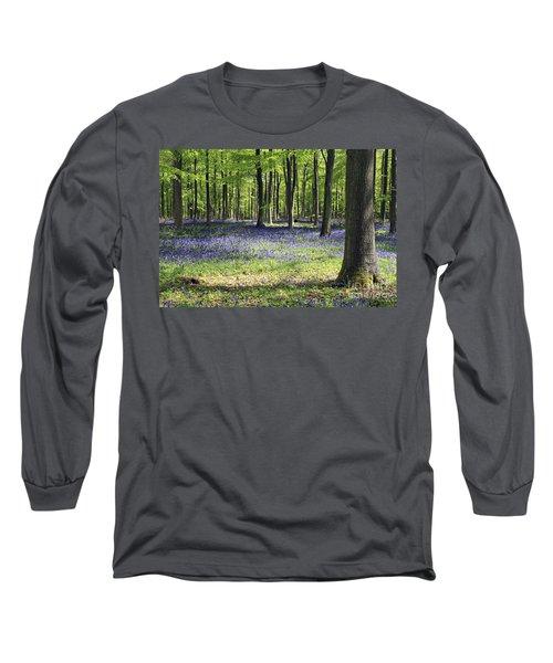 Bluebell Wood Uk Long Sleeve T-Shirt