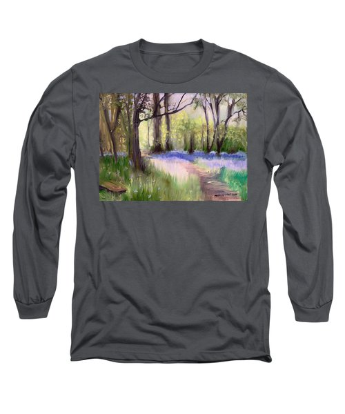 Bluebells At Dusk Long Sleeve T-Shirt