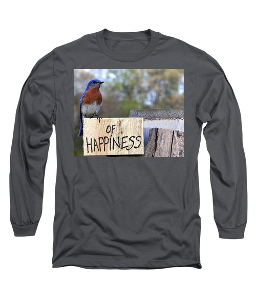 Long Sleeve T-Shirt featuring the photograph Bluebird Of Happiness by John Crothers
