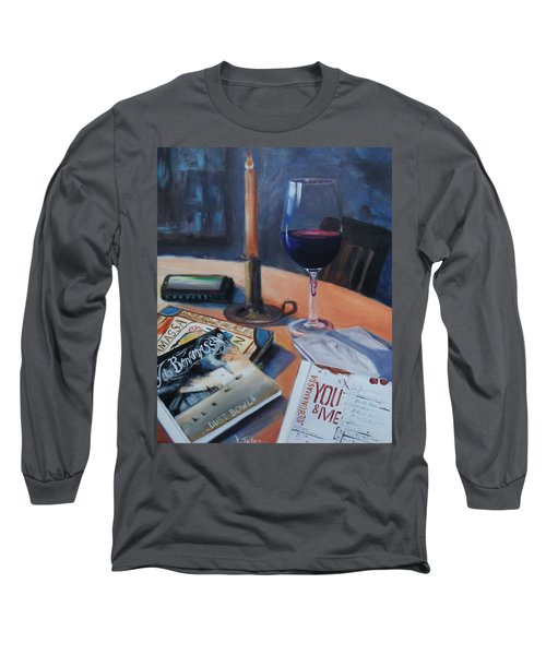 Blues And Wine Long Sleeve T-Shirt